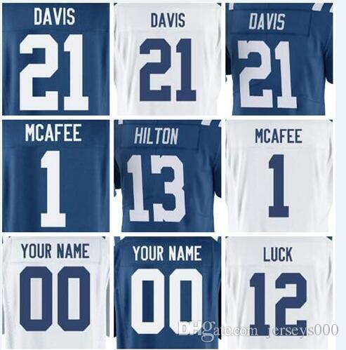 d40124a07 2019 Mens Jersey Andrew Luck Quenton Nelson TY Hilton Custom ...
