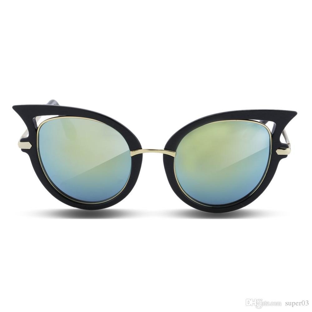 871ef24d9409d Compre Armação De Metal Sexy Cat Eye Óculos De Sol Para As Mulheres De  Revestimento Da Marca Óculos De Sol Do Vintage Feminino Oculos De Grau  Femininos ...