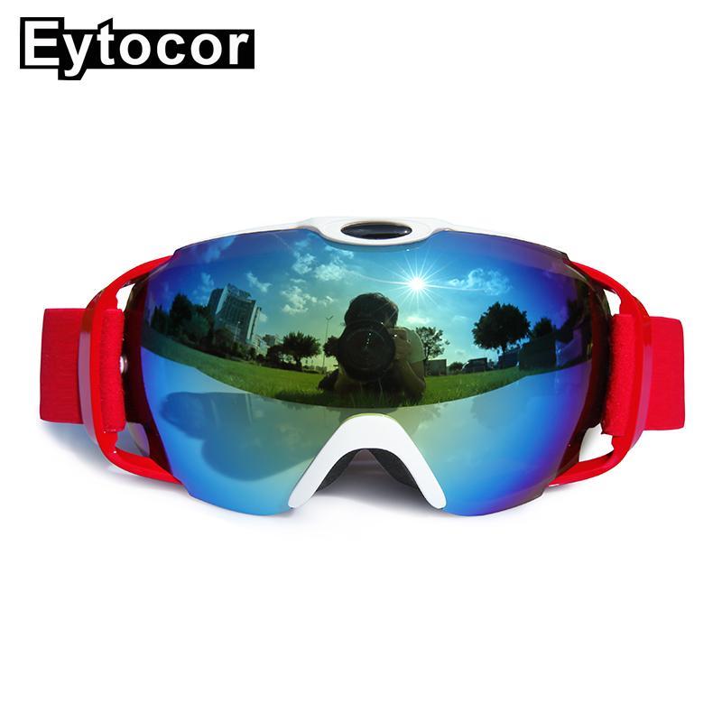 5b9aa4d420d Compre EYTOCOR Doble Lente Esférica Gafas De Esquí Antiniebla Grandes Gafas  De Marca De Esquí Protección UV400 Gafas De Snowboard Para Hombres Mujeres  A ...