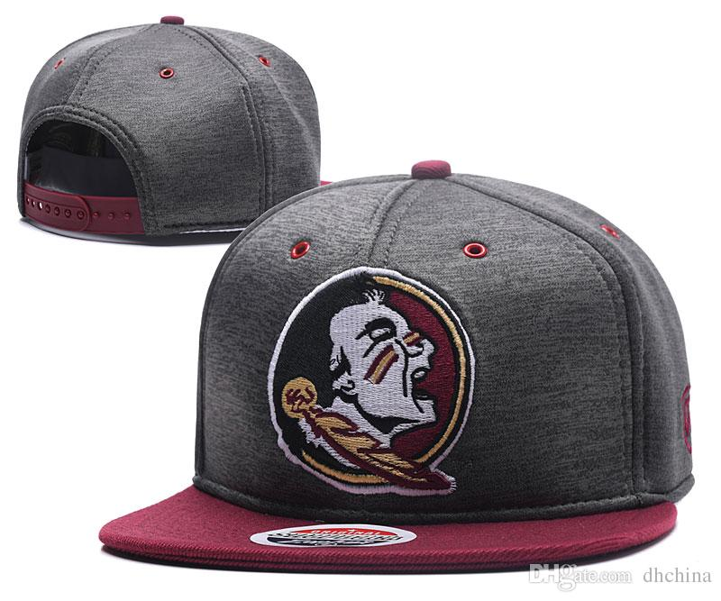 online retailer 044c8 4a80a 2019 New Caps FSU Seminoles 2018 College Football Snapback Hats Cap Gray  Color Team Hats Mix Match Order All Caps In Stock Wholesale From Dhchina,  ...