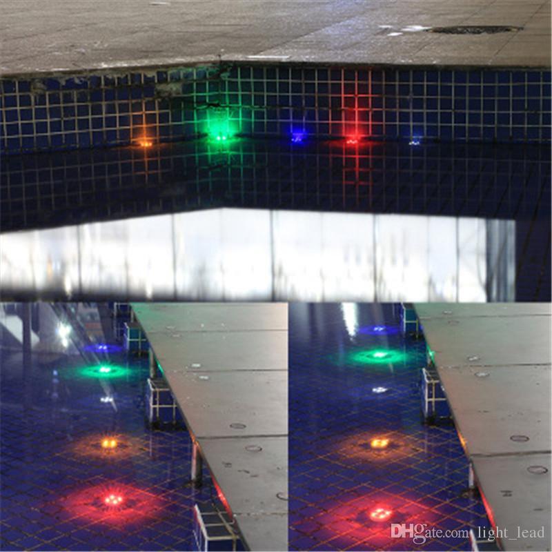 LEVOU Luz Solar Subterrânea 4 LEDs IP68 Ao Ar Livre Caminho Do Jardim À Prova D 'Água Jardim Quintal Lâmpada Paisagem Luzes Do Ponto