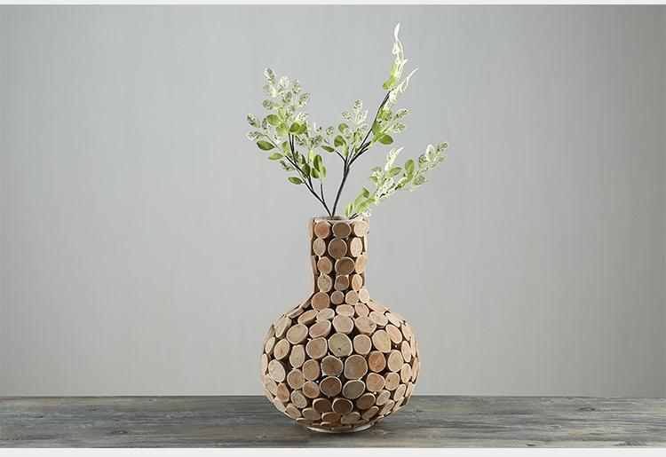 Wholesale Home Decor Vase Wooden Vases For Flower Gifts Pastoral Style  Wedding Gift Tabletop Vase Wood Flower Pot Hand Made Nature Unique Tall  Glass ...