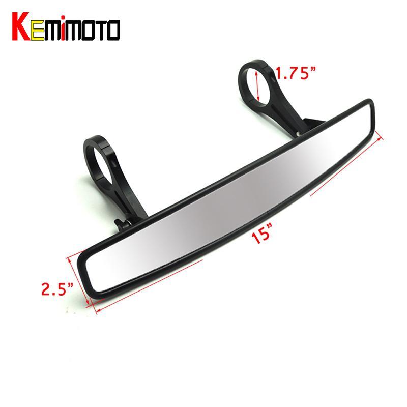 KEMiMOTO 1 75 Clamp UTV Wide Rear View Mirror Racing Mirror for Polaris  Rangers RZR 800 1000 XP 900 1000 S For Yamaha Rhinos