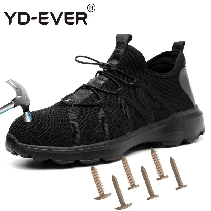 2019 Yd Ever Breathable Men Safety Shoes Steel Toe Ultralight Casual