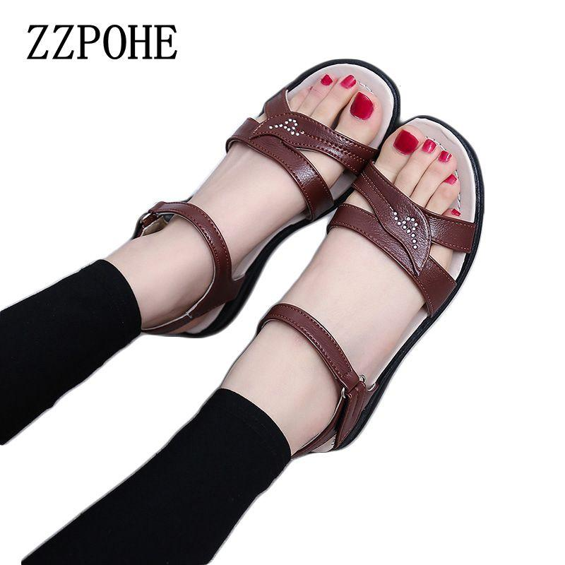 8d49f546173b ZZPOHE 2017summer New Mother Flat Sandals Plus Size Soft Bottom ...