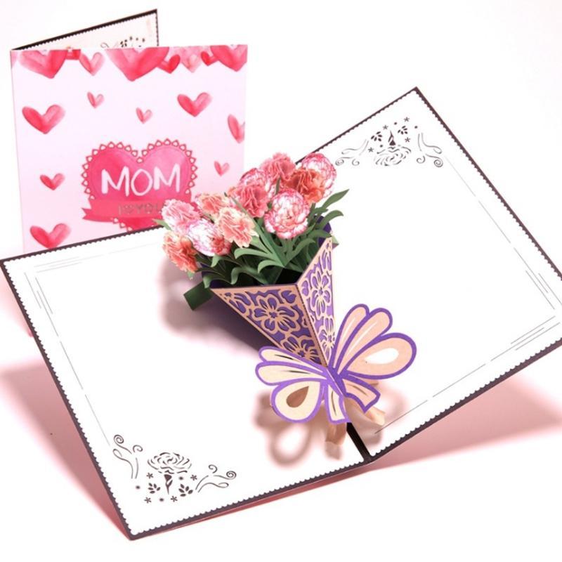 3D Pop Up I Love Mom Cartes De Voeux Anniversaire Noël Cadeau Fête Des Mères-649A