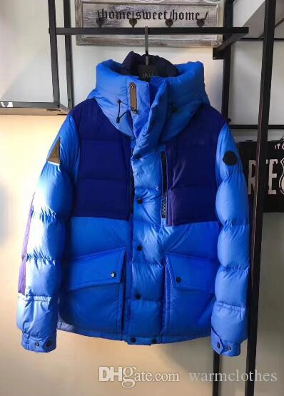 48a4a7d87 Winter Warm Clothes 90% White Down Duck Men Jackets Blue Down Jacket  Fashion Sports Coat With Zipper Jacket Down Outwear Keep Warm Clothes