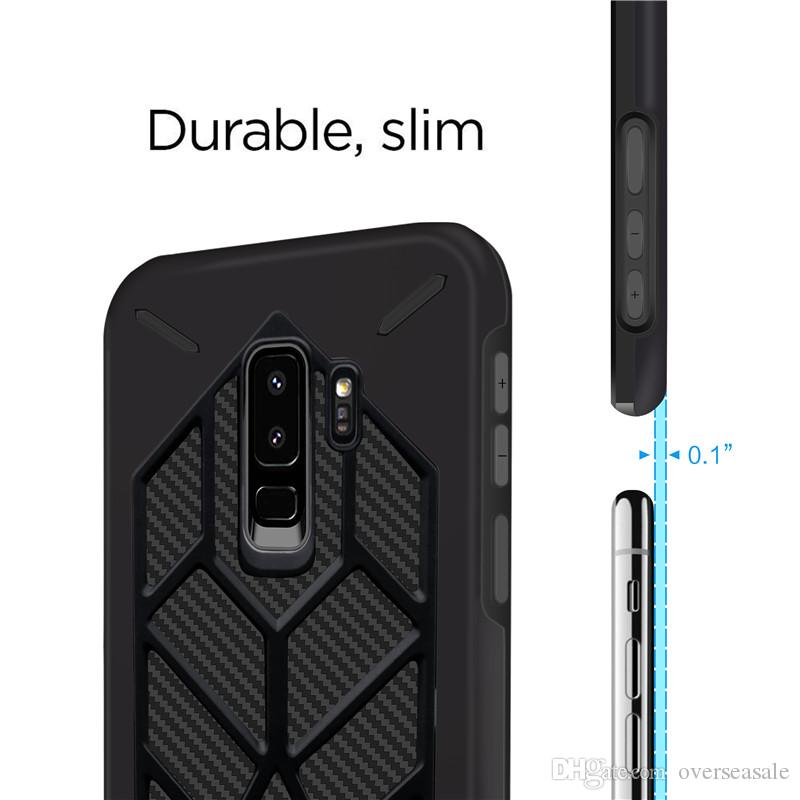 Armor Shock proof Rugged skin Hybrid Case For Samsung Galaxy S9 Plus S8 For Iphone X 8 7 6 6S Hard Plastic Soft Rubber TPU cover Cases