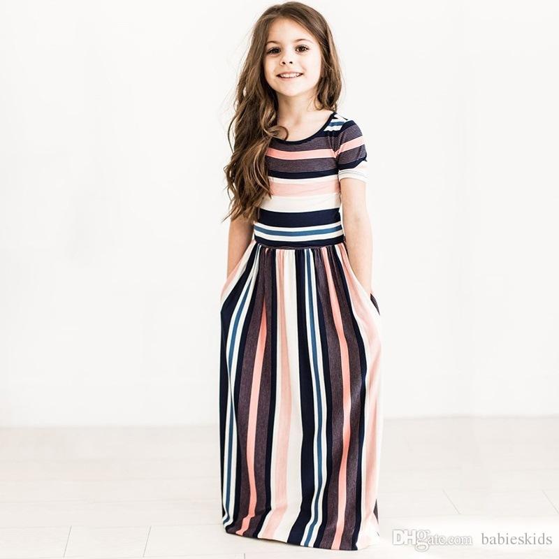 f2f735dd2 Compre Vestido De Las Muchachas Del Bebé Del Otoño Vestidos Largos De  Bohemia Maxi Girls Vestidos De Verano Toddler Beach Ropa Para Niños  Elegante A  5.83 ...