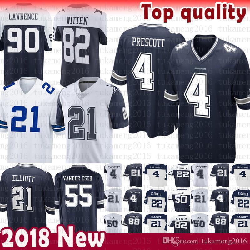 Dallas Jersey Cowboys 4 Dak Prescott 21 Ezekiel Elliott 50 Sean Lee 82  Jason Witte 11 Cole Beasley 90 Lawrence Vander Esch Emmitt Smith 55 4 Dak  Prescott 4 ... e92ddee0b
