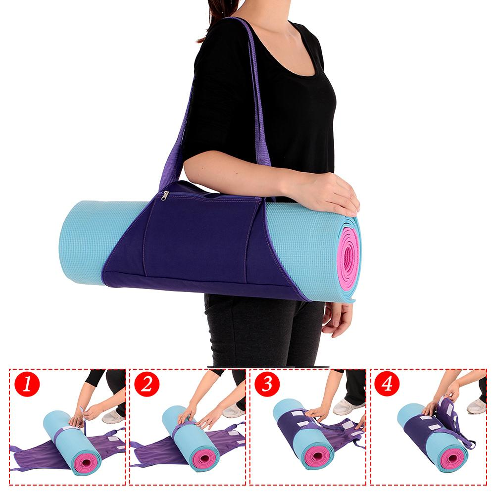 Women Yoga Mat Bags Carrier Exercise Yoga Mat Bag With Multi Functional  Storage Pockets Backpack Shoulder Messenger Sport Bag UK 2019 From Johiny b9a0662f51