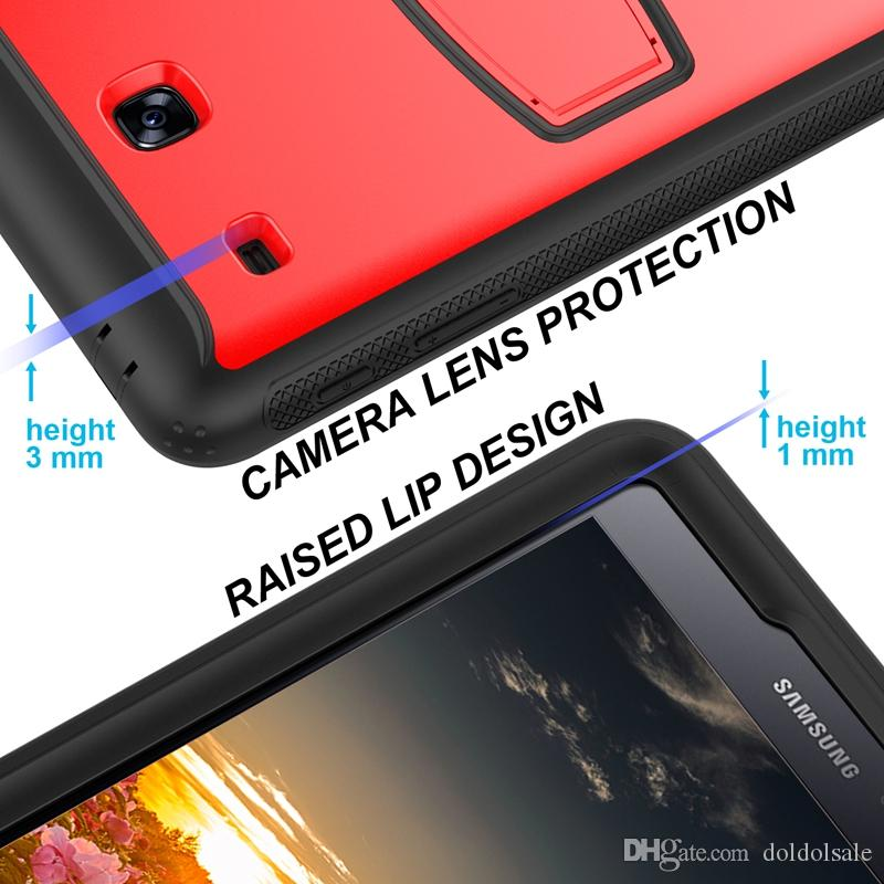 Hard PC Rugged Silicone Case Back Cover for Samsung Galaxy Tab E 8.0 T377 T377V SM-T377 Tablet PC Durable Shockproof