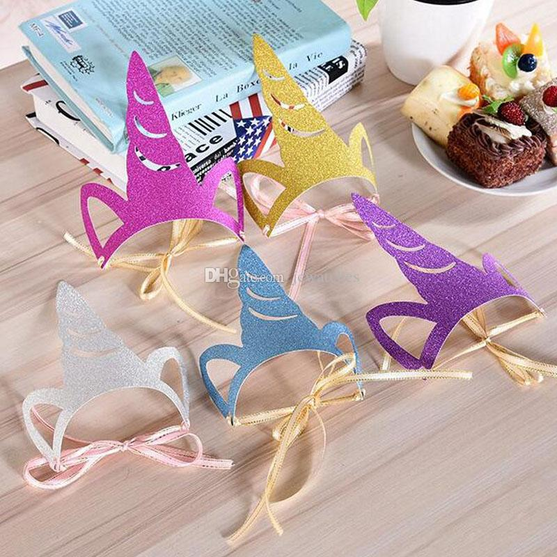 DIY Unicorn Party Hats Creative Paper Kids Favors Theme Home Birthday Decorations Baby Shower Supplies Canada 2019 From Jcwatches