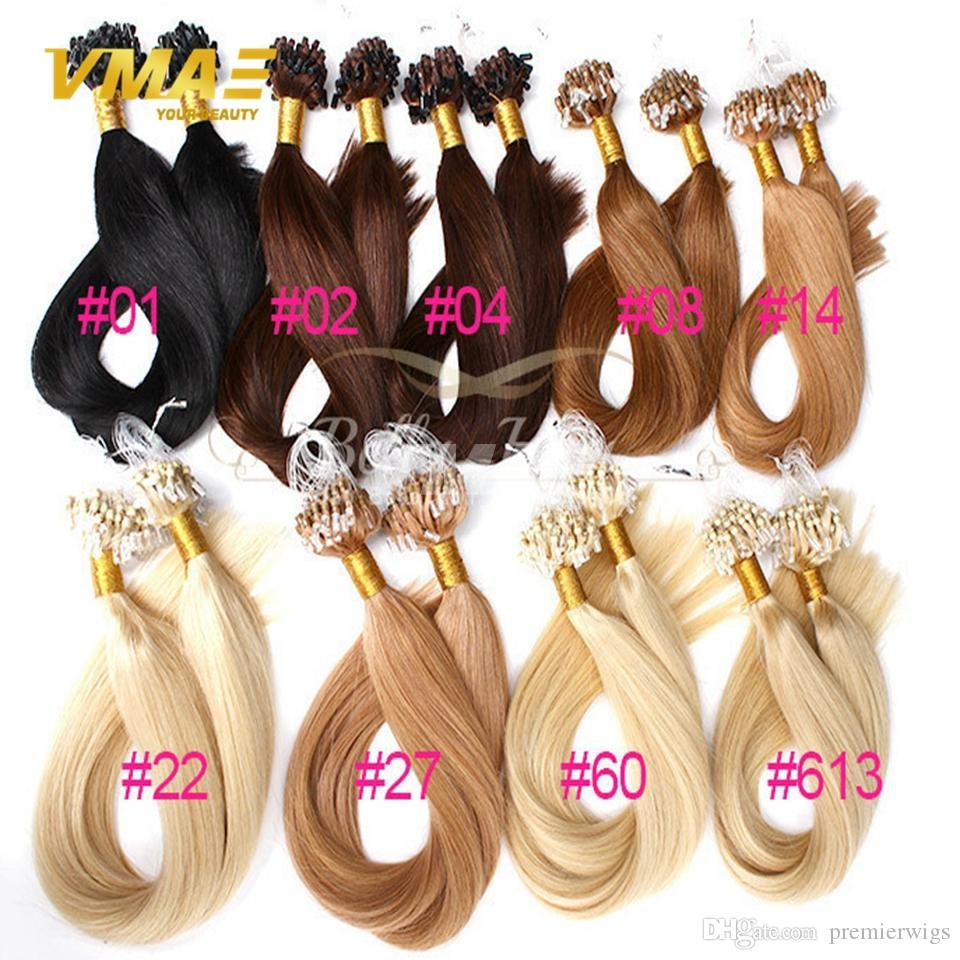 New Arrival 14 26 Inches Straight Brazilian Micro Ring Loop Hair