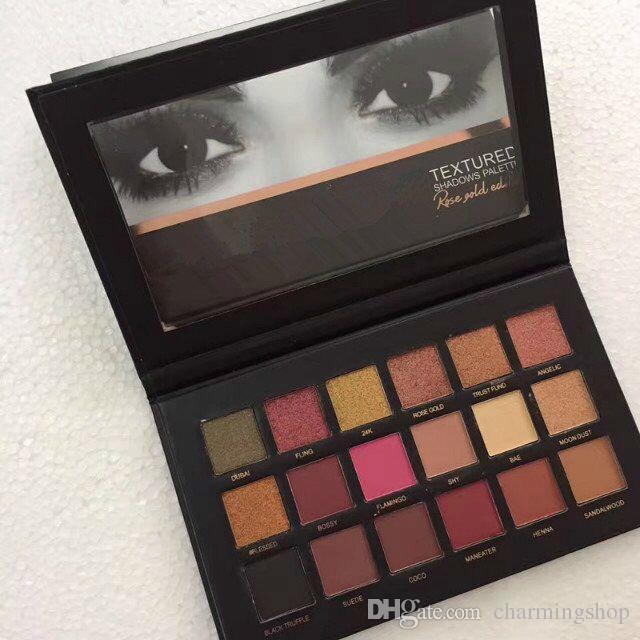 Top Quality HOT Nova maquiagem Paleta De Beleza 18 cores paleta eyesahdow / paletas da sombra Fácil de usar e de longa duração livre DHL