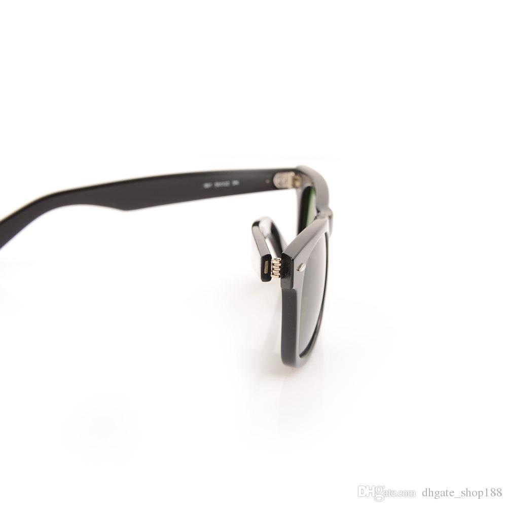 High Quality Plank black Sunglasses glass Lens Black Frame Green Lens 2140 Plank Sunglasses beach sun glasses Fashion Sunglasses