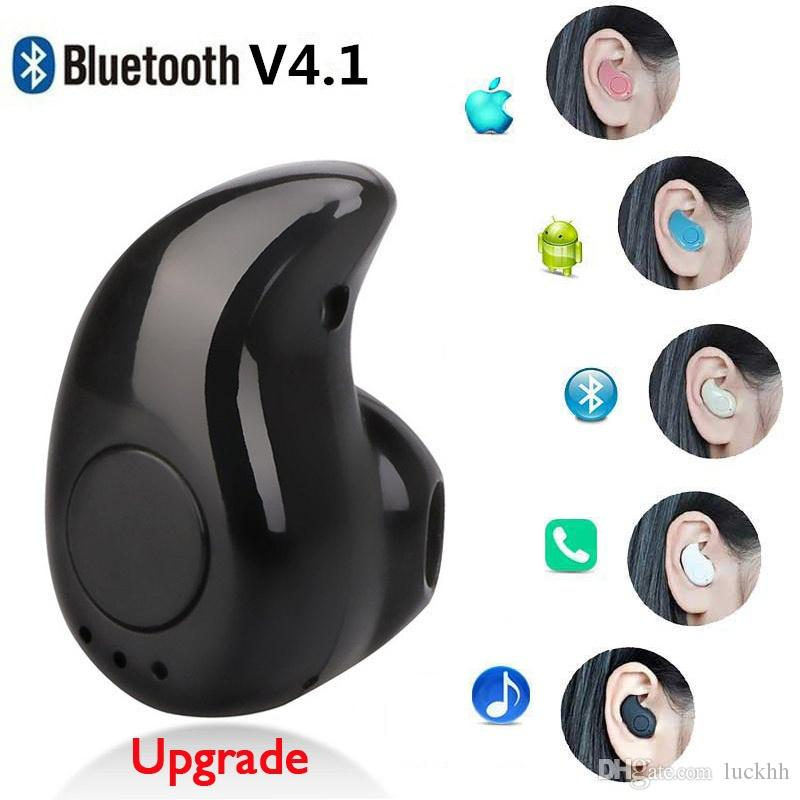 Mini Wireless Stereo Kopfhörer S530 Bluetooth Kopfhörer Super kleinste V4.1 Stealth Earbud Portable Headset für Handy