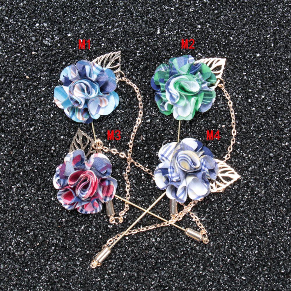 Fiore fatto a mano bavero fiore all'occhiello bastone spilla pin donna uomo anniversario banchetto festa di natale fascino corpetto spille pins smoking vestito ornamento