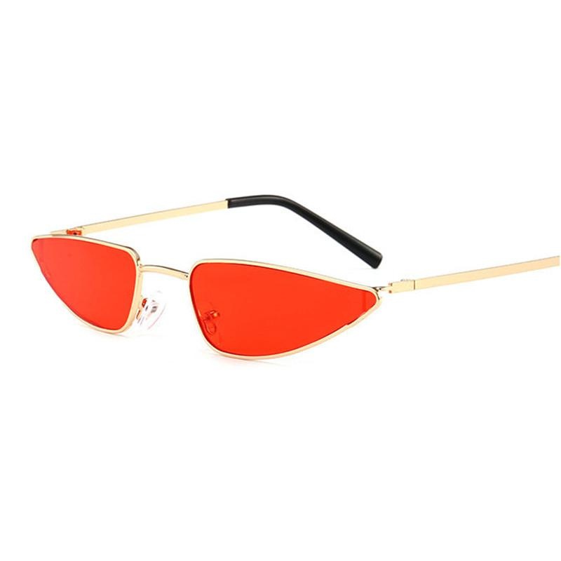 40328f75e44df 2018 Small Red Sunglasses Cat Eye Sunglasses Women Brand Design Cateye  Frame Retro Skinny Triangle Slim Sun Glasses Shades FML Sunglasses For Men  ...