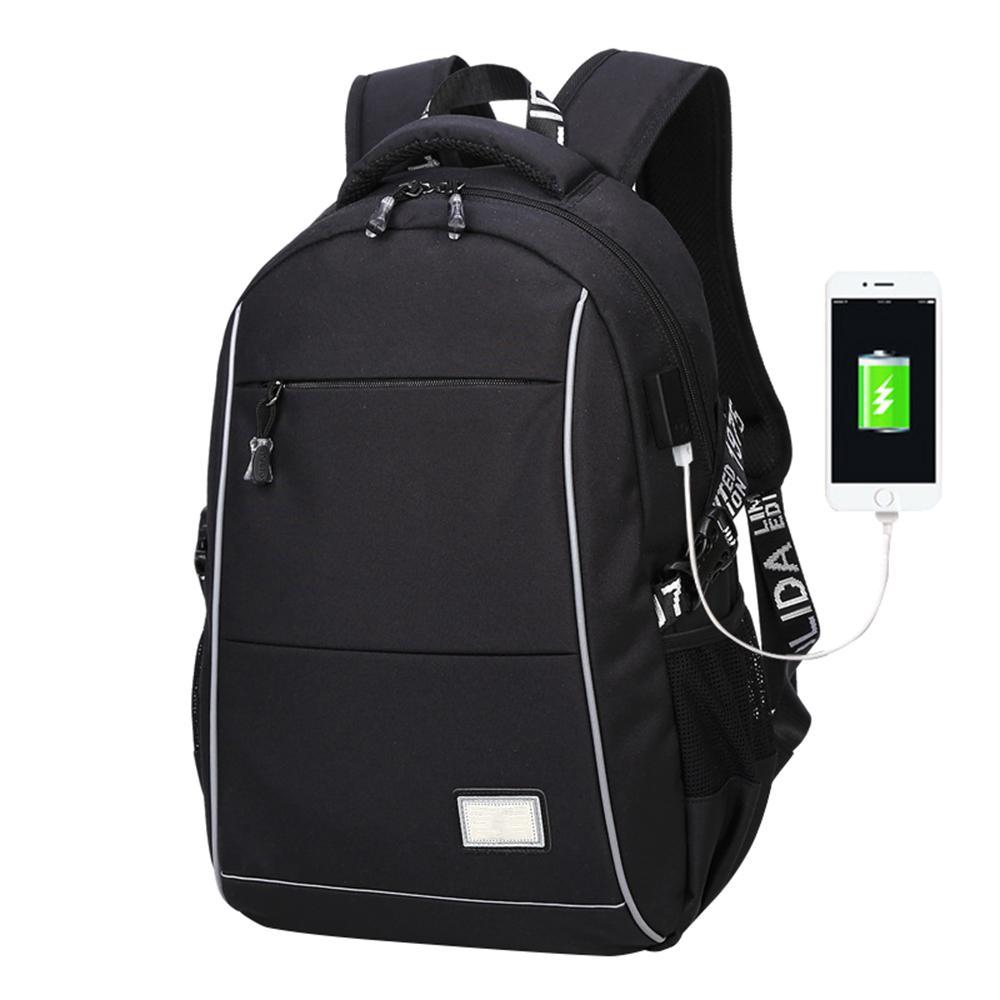af631c555d Fashion Men s USB Charging Backpack Travel Backpack School Bag ...