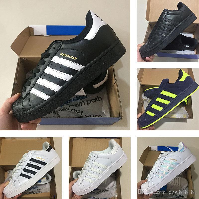 Compre Adidas Superstar 80s Frete Grátis Homem Mulher Superstars Sapatos  Sneakers Adidas Originals Superstar W Sneakers Clássicos Tênis De Corrida  Mulheres ... b1b7603514035