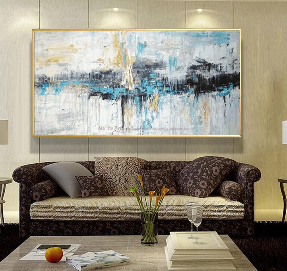 Acheter Art Abstrait Peinture Moderne Mur Art Toile Photos Grand Mur  Peintures À La Main Peinture À Lu0027huile Pour Salon Mur Décor Art Y18102209 De  $123.6 Du ...
