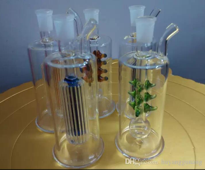 Passez un verre de bouteilles d'eau en gros huile bangs en verre du brûleur en verre Pipes eau huile Fumeurs Rigs