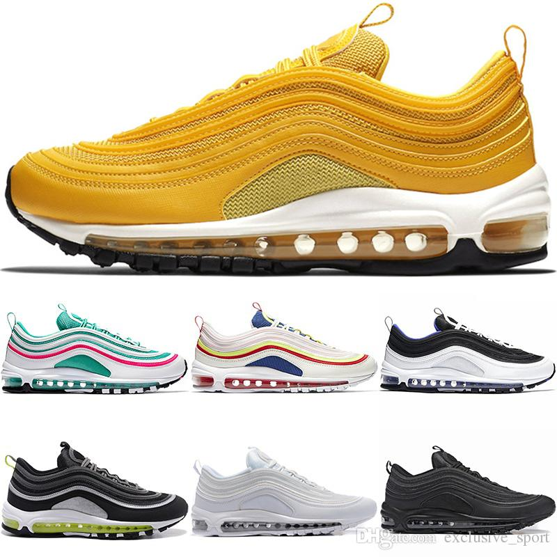 6b962d2a5ef2 Mustard Yellow 97 Running Shoes For Men Women 97s Trainer South ...