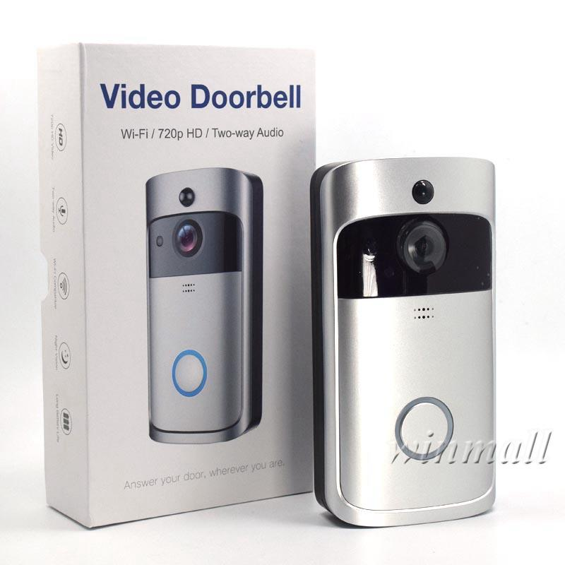 WiFi Video Doorbell Smart 720P HD Wireless Alarm system Security Camera with PIR Motion Detection For IOS Android Phone APP Control