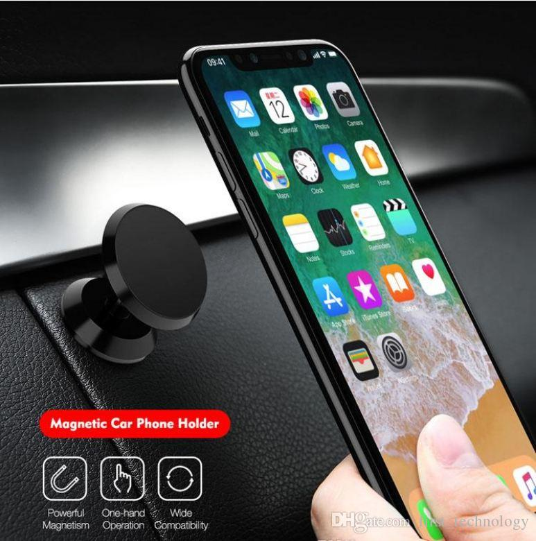 360 Degree Universal Magnetic Air Vent Mount Car Holder Aluminium Alloy Phone Stand For iphone samsung huawei xiaomi
