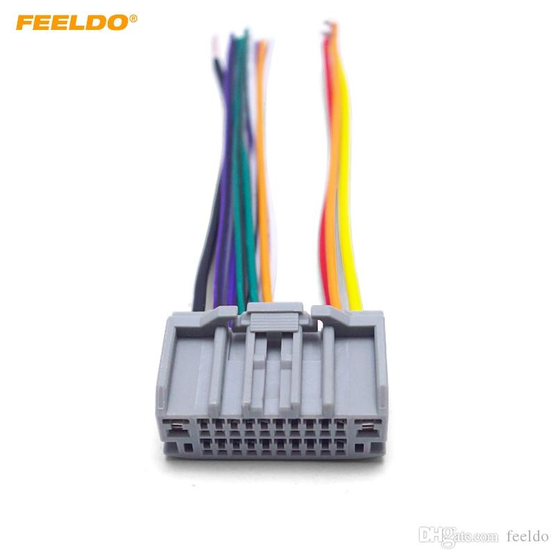 feeldo car stereo audio radio cd player wiring harness adapter plug for jeep wrangler compass tail wire 4050 Aftermarket Radio Wiring