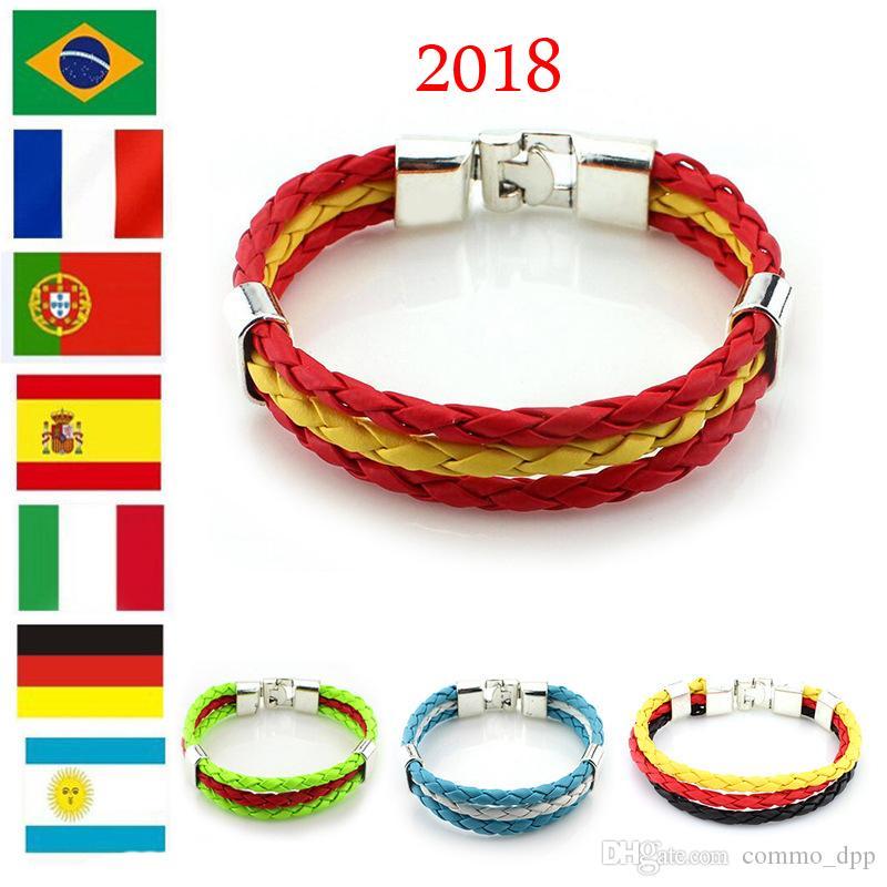 Leder Armband Russland Flagge World Cup Fußball Fan Wm 2018 Neu Handgemachte Armbänder