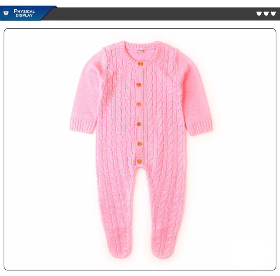 4c3438f17 Baby Boy Footie Spring Newborn Girls Playsuit Long Sleeve Jumpsuit ...