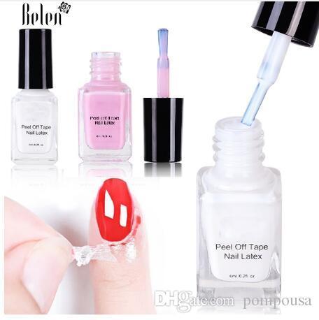 Peel Off Liquid Tape Nail Polish Protection Finger Skin Cream White ...
