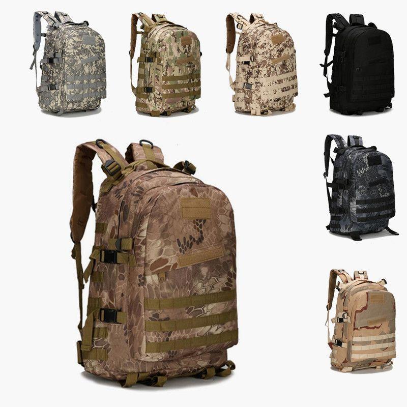 cd840a11a41ed Großhandel Outdoor Sports 40L 3 P Militärische Taktische Rucksack Oxford  Wasserdichte Camouflage Camping Wandern Tasche Rucksäcke Trekking Tasche  Sollte ...