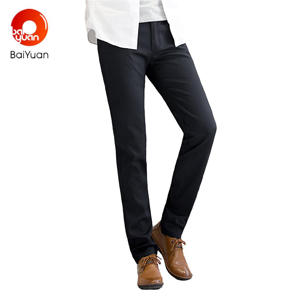 fcf6a9a94bc86 2019 Baiyuan Trousers Mens Suit Pants Slim Fit Business Casual Formal  Social Pants High Quality Black/Red Wine/Blue 2W02V114 From Blueberry15, ...