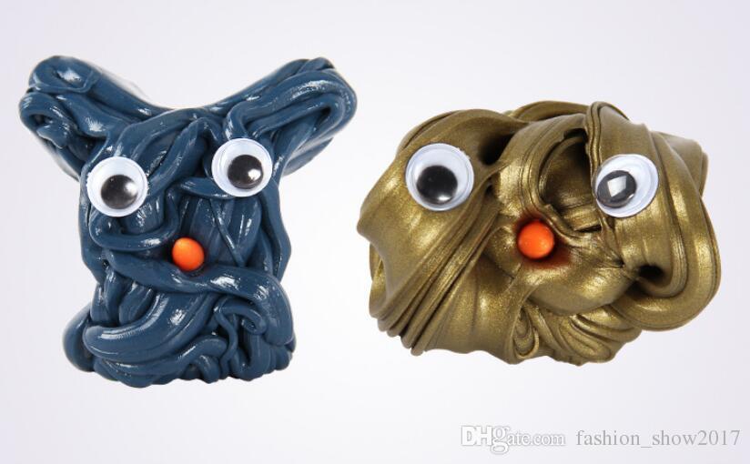 DIY 자기 점액 폴리머 클레이 지능형 고무 자석 플라스 티 신 진흙 마법의 손 퍼티 Doh 바운스 장난감