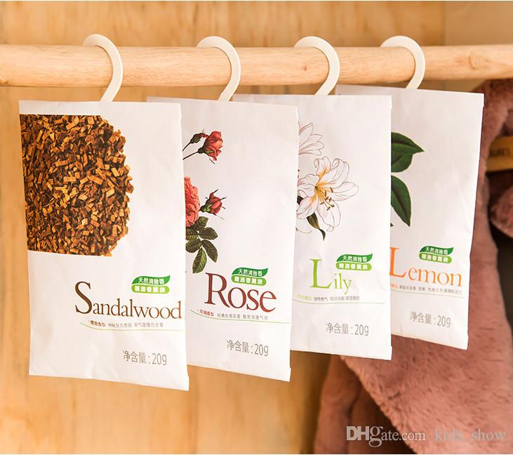 popular 6 Taste Fresh Air Scented Fragrance sachet bag Home Wardrobe Drawer Car Perfume Sachet Bag Aromatherapy package