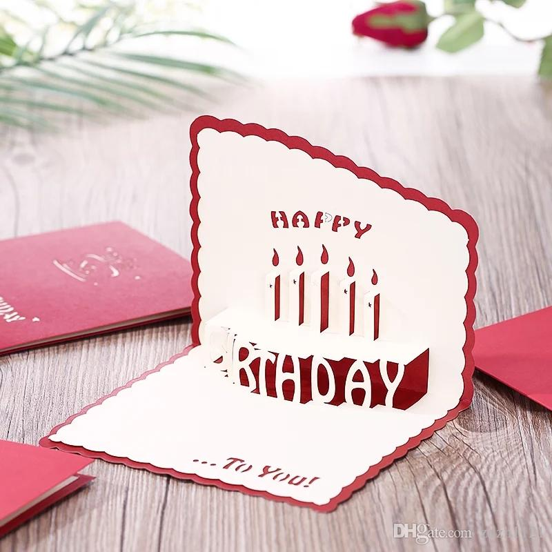 3D Greeting Card Manual DIY Creative Three Dimensional Staff Birthday Business Personality Custom And Carving Buy Print Gift Cards Online Mail