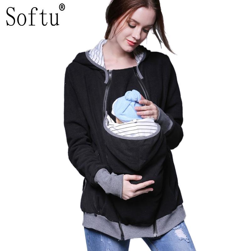 f4114ba6f Softu Fashion Long Sleeve Maternity Warm Clothing Mother Autumn ...