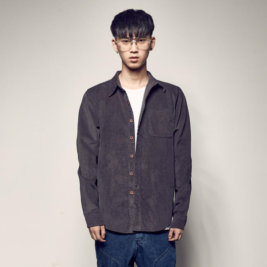 4353e99c47 Compre Imprimir Camisa De Pana Hombres Slim Fit Cuello Alto Verano Casual  Nuevo Modelo Camisas Hombres Otoño Blusas Camisas Para Hombre Blusa 5c9 A   81.32 ...