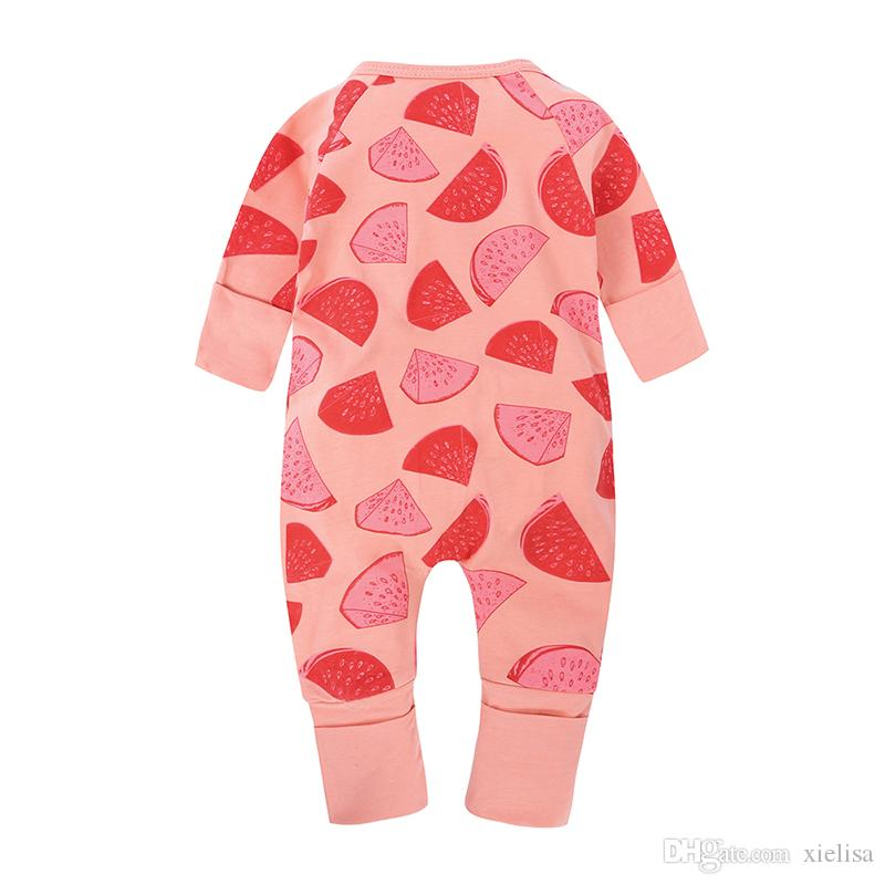 a6b9f071b Spring Print Watermelon Coverall Autumn Baby Cotton Long Sleeve ...