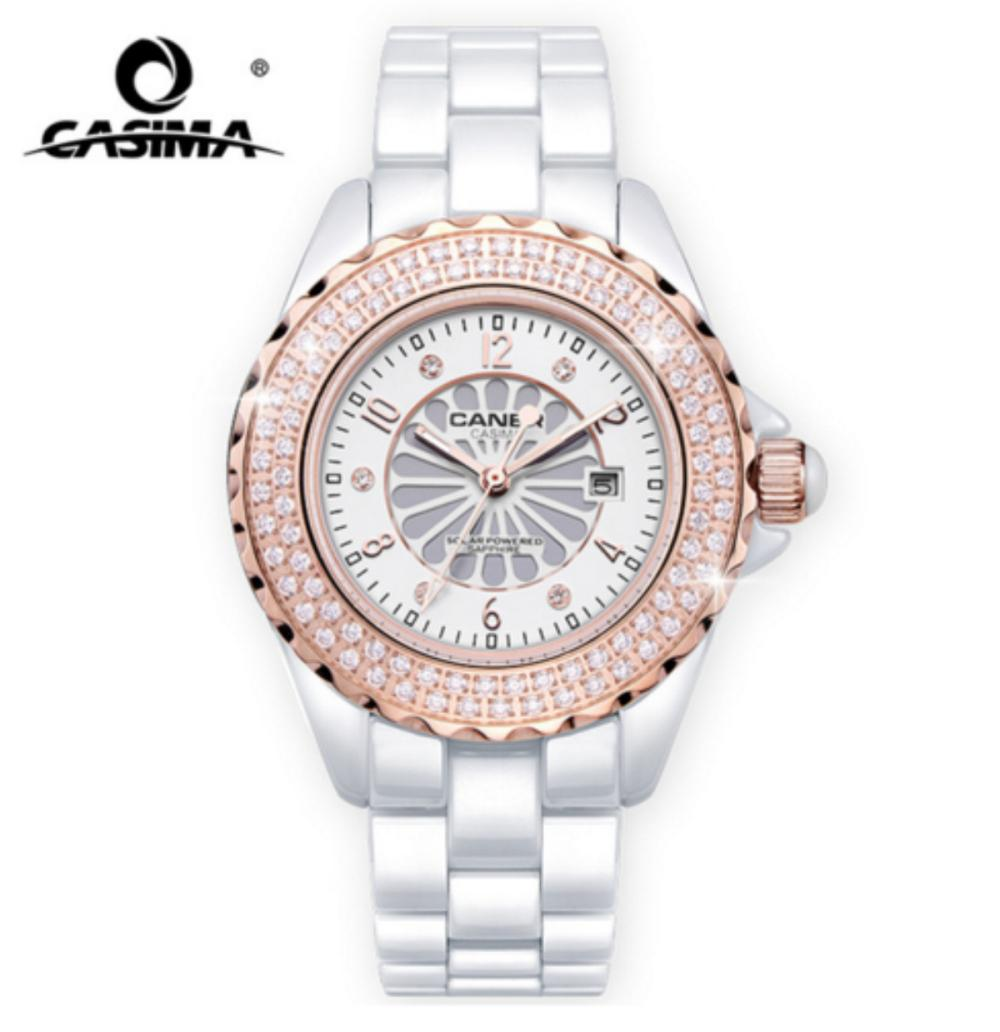 Relogio Masculino 2018 CASIMA Branded Fashion Watch Ladies Luxury Ceramic  Men s Solar Analog Watch Montre Relogio Clock Online with  201.23 Piece on  ... a836039668