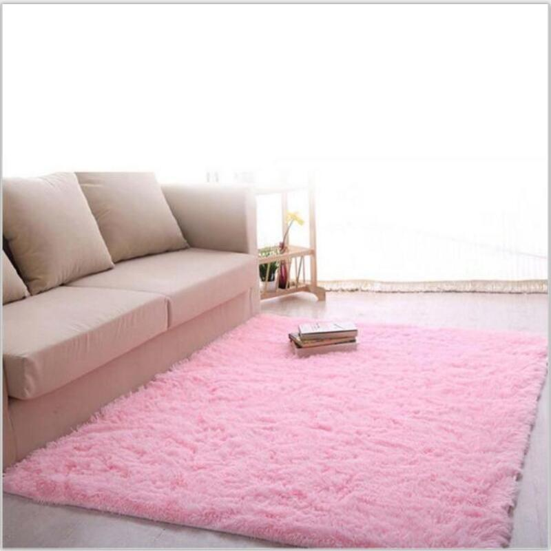 Genial Soft Shaggy Modern Bedroom Rugs Faux Fur Area Rugs Slip Resistant Floor  Fluffy Mats For Parlor Living Room Bedroom Home Supplies Carpet Samples  Online Nylon ...