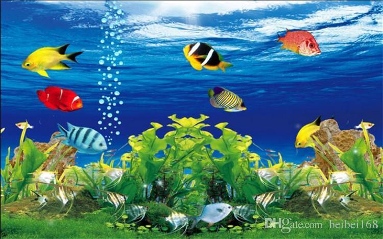 Custom Photo Wallpaper 3D Stereoscopic Ocean Aquarium Sofa TV Background Wall Decorations Living Room Modern Mural Wall Paper