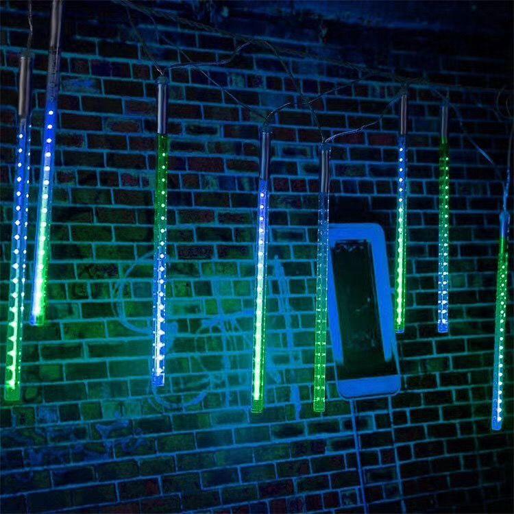 Solar led strings 30cm waterproof Meteor Shower Rain Tubes LED Light for Party Wedding Decoration Christmas lights Holiday LED Meteor Light