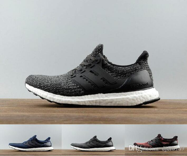 560077e25 2017 Ultra Boost 3.0 Triple Black Running Shoes Men Women High Quality  Ultra Boost Hypebeast Primeknit Core Black White Athletic Size36 45 Womens  Sandals ...