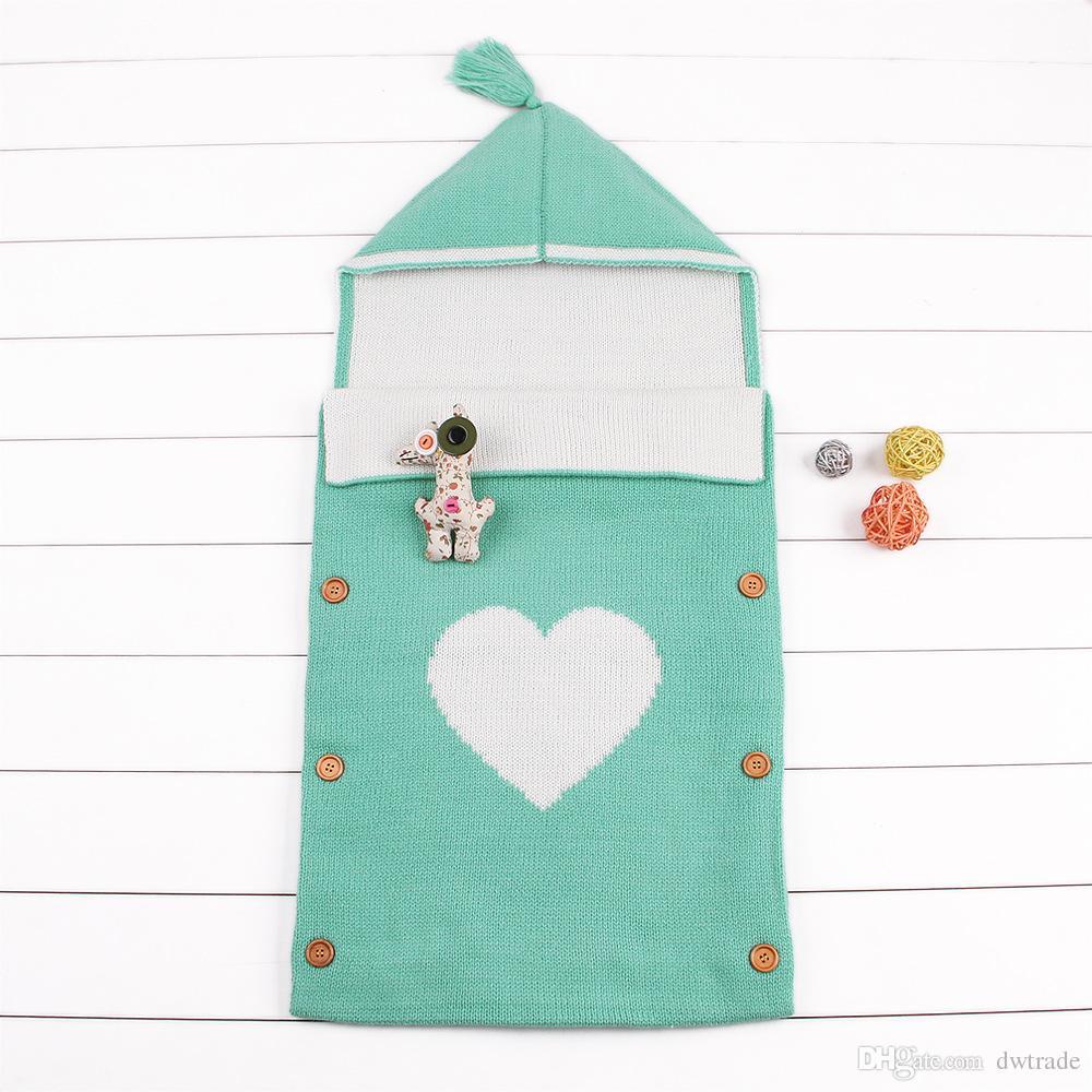 INS Bahar Yeni Bebek Sarılmış Uyku Tulumu çocuk Vahşi Kapşonlu Uyku Tulumu Bebek Dışarı Giyim Kreş Yatak 13 Renkler 0-12Months