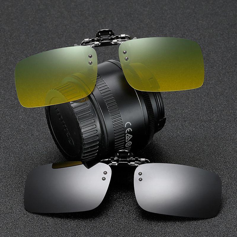 06ffffea8a Rimless Polarized Sunglasses Clip On Glasses For Driver Driving Men Flip  Myopia On Sun Glasses Night Vision Lens UV400 FML Sunglasses Case  Knockaround ...