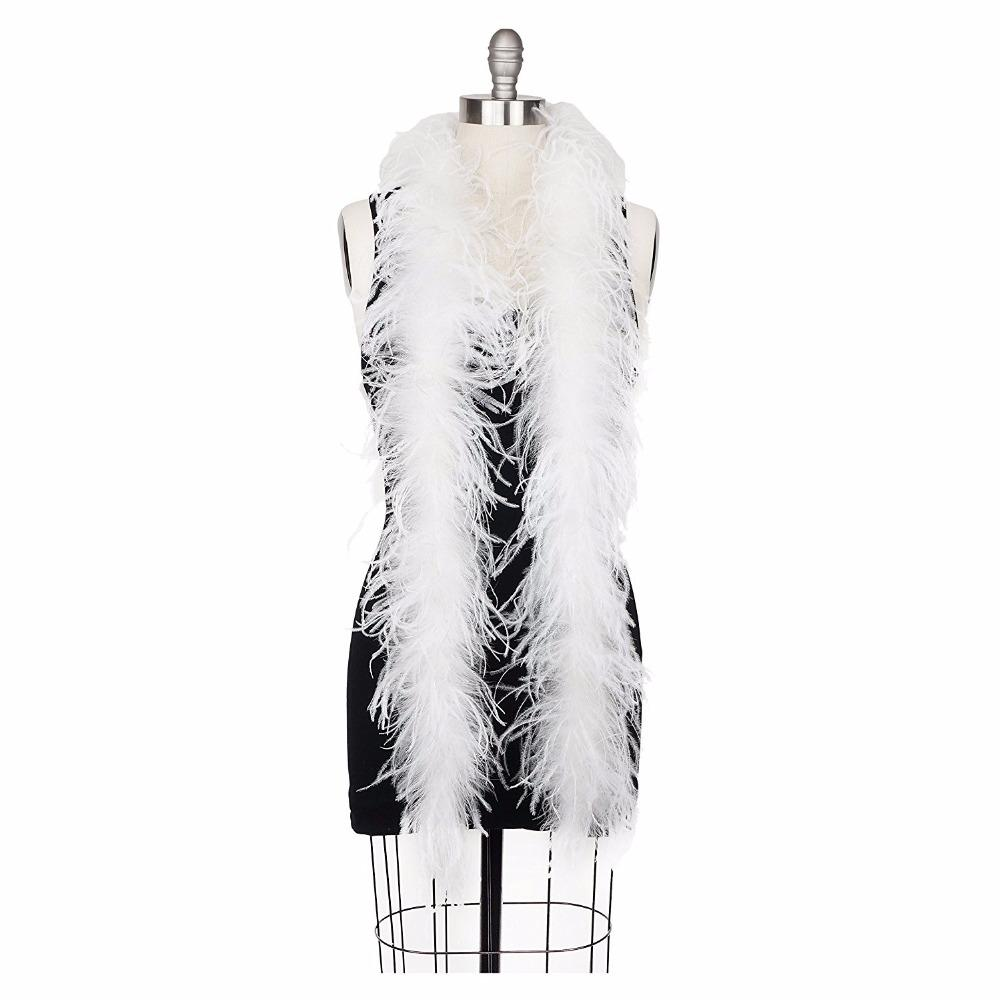 New White Ostrich Feather Boa Party Decorations Scarf Turkey Feather Boa Marabou Boa New Fashion Beauty